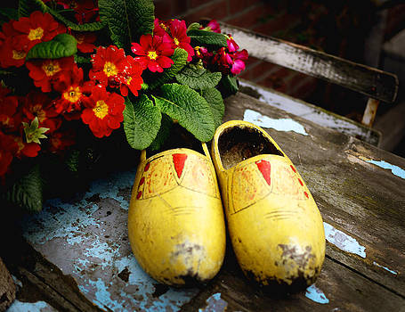 Yellow Dutch Clogs by Kelsey Horne