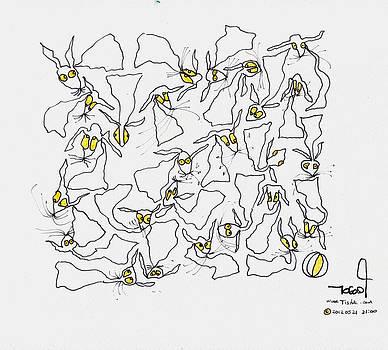 Yellow Eyes by Tis Art
