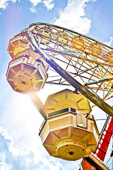 Yellow Ferris Wheel From Below by Eye Shutter To Think