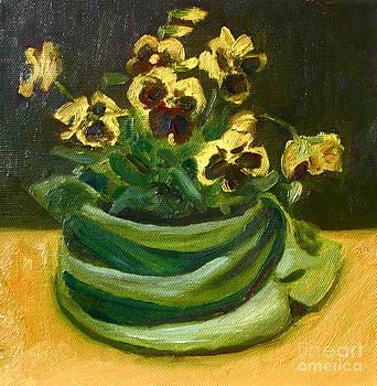Yellow Pansies by Jane  Simonson