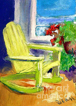 Yellow Rocking Chair by Patricia Huff