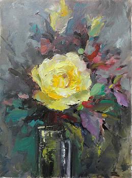 Yellow Rose by Nelya Shenklyarska