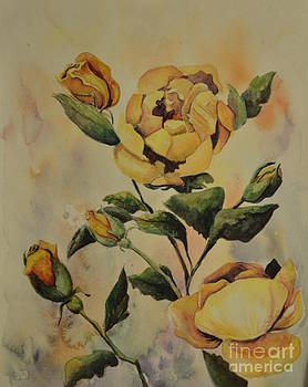 Yellow Roses by Mindy Buckley