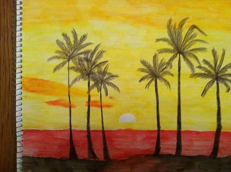 Yellow Sunset by David Stich