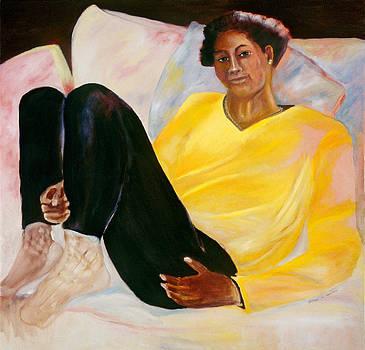 Yellow Sweater by Bettye  Harwell