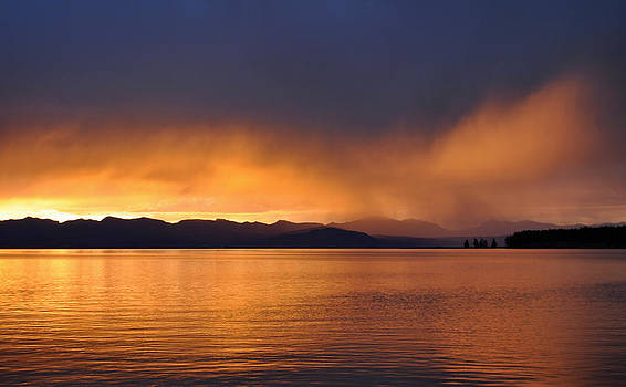 Yellowstone Lake Sunrise II by Bruce Gourley