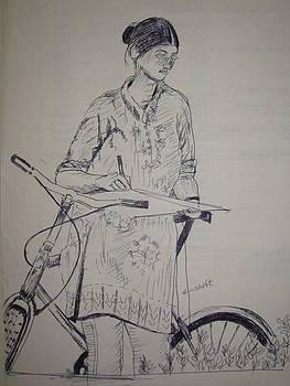 Young Artiste by Jitendra Gavali