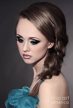Young woman with creative make-up by Iryna Shpulak