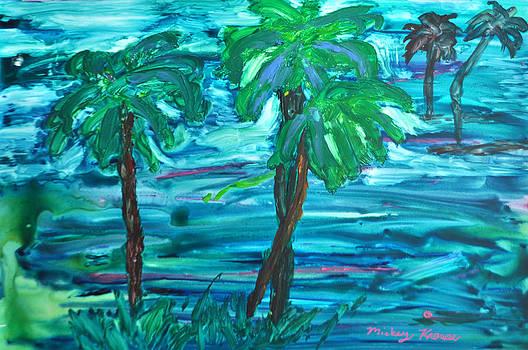 Yupo Palms by Mickey Krause