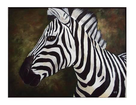 Zebra Painting by Debra CerboneSteiner