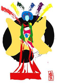 Zen-Geisha Butterfly  by Frank  Gulsftream