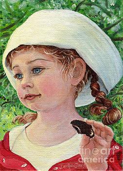 Annie in Dad's Sailor Hat by Dee Davis