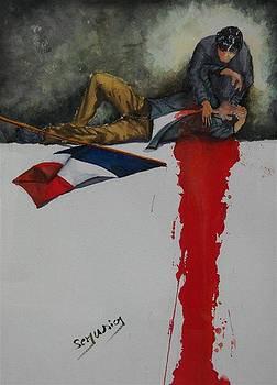 Au Nom De La Liberte In The Name Of Liberty by Dominique Serusier