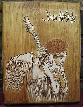 Jimi Hendrix  by Bob Renaud