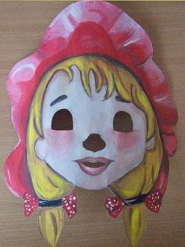 Little Red Riding Hood mask  by Larisa M