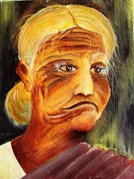 Old Woman by Kanthasamy Nimalathasan