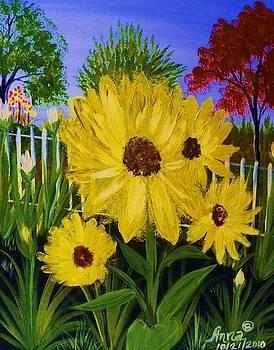 Sara Sunflower by Anna Baker