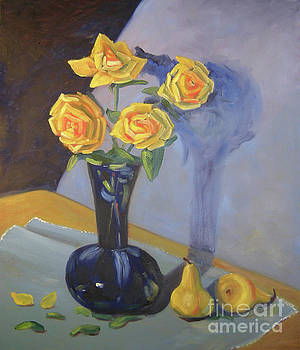 Yellow Roses and Pears by Lilibeth Andre