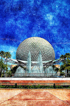 Spaceship Earth and Fountain of Nations by Sandy MacGowan