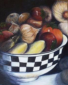 A bowl of veggies by Anna Gitchel
