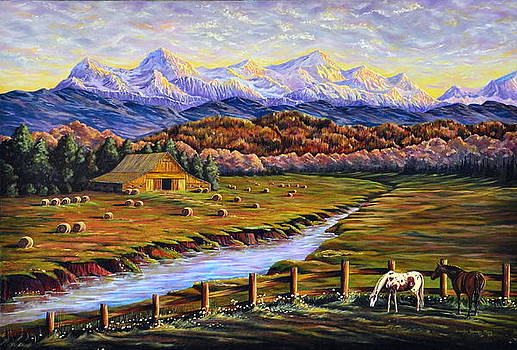 A Glance Over to Sweet Grass Ranch by Jennifer Frances Mary