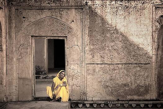 A Woman in Yellow Dress by Mostafa Moftah