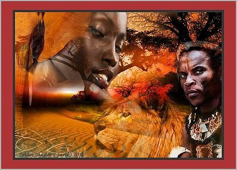 African mother by Zoldes Hampel Sandor