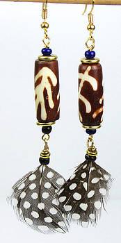 African Tribal Cylinder Earrings by Virginia Vivier