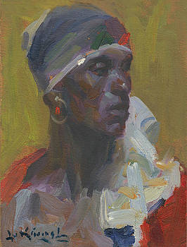 African With Scarf by Lu Kimmel