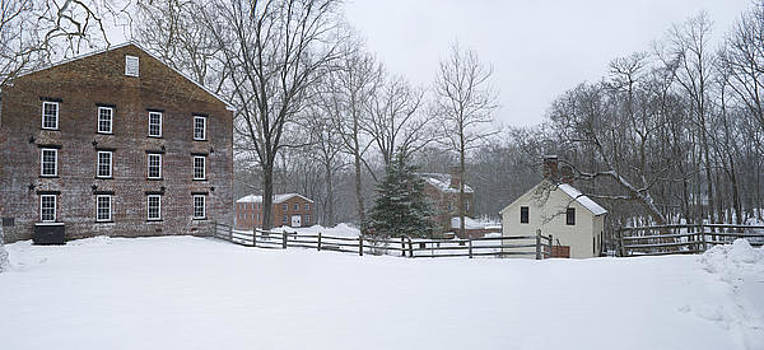 Allaire Winter Panorama by Andrew Kazmierski