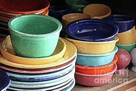 Antique Fiesta Dishes I by Marilyn West
