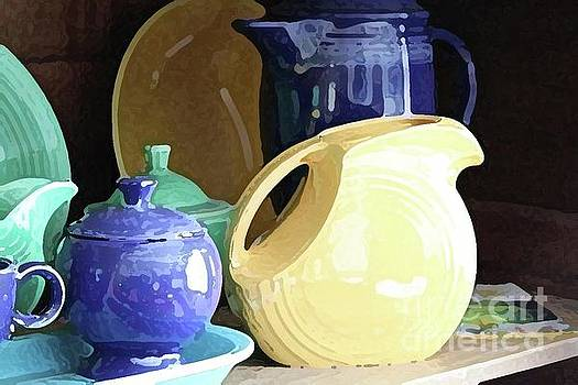 Antique Fiesta Dishes II by Marilyn West