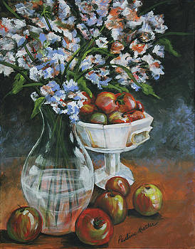 Apples and Flowers by Pauline  Kretler