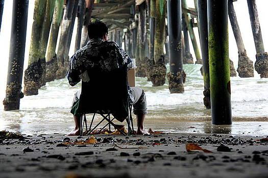 Artist Under the Pier by C Nakamura