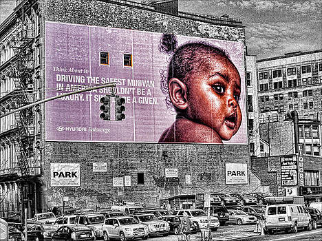 Baby Girl on Wall by Bennie Reynolds