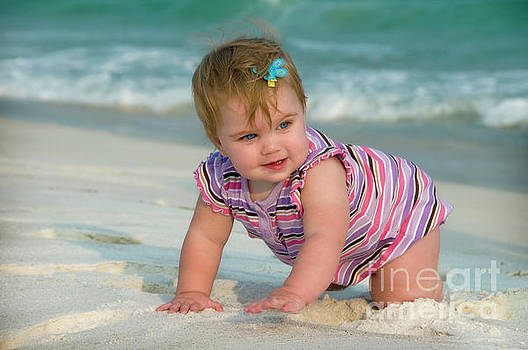Baby on the Beach by Steve Shockley