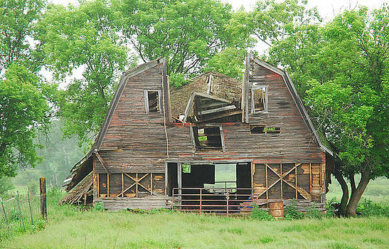 Barn with a Smiling Face by Wanda Jesfield