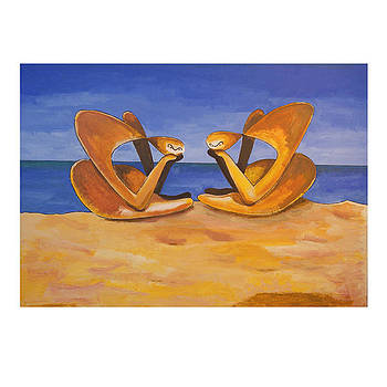Beach Contemplation by Tony Nilsson
