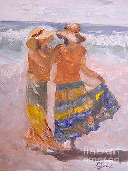 Beach Stroll by Julie Sauer