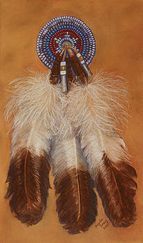 Beads and Feathers Number One by Angela Tomey