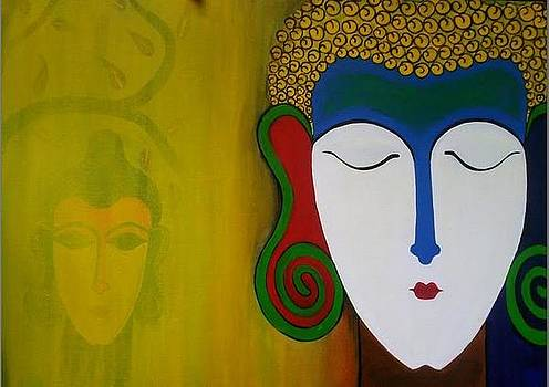 Bhuddha Painting by Rekha Artz