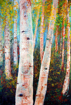Birch Tree Forest by Gary Deslauriers