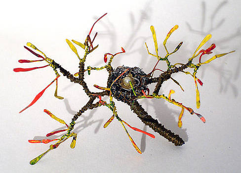 Bird Nest  8   Wire Sculpture  by Sal Villano