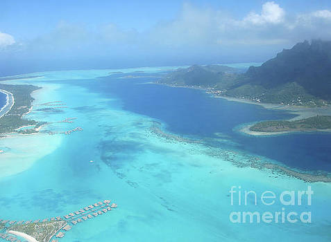 Birds Eye View of Bora Bora by Paul Jessop