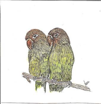 Birds on a Limb by Nancy Nuce
