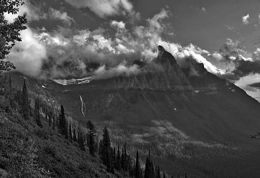 Birdwoman Falls Glacier National Park Montana Mountain Photography Larry Darnell by Larry Darnell