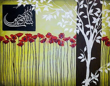 Bismillah Poppies by Salwa  Najm