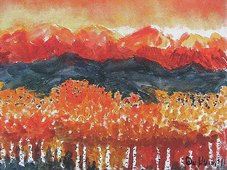 Blazing Wasatch Inspired by O'Keefe's Lake George by Don Hutchison