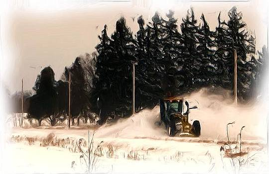 Blowing Snow by Victoria Sheldon