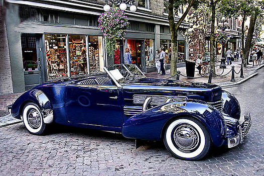 Blue Roadster Restored by Rianna Stackhouse